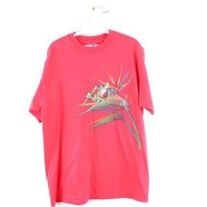 Vintage 90s Red Eye Tree Frog Nature Print T Shirt